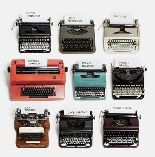 Máquinas de exprimir de escritores famosos
